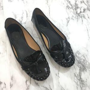 Kate Spade Black tassel moccasins
